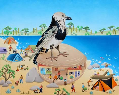 La légende du corbeau créateur 33x41cm 1000€