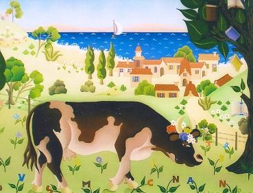 La vache du libraire 27x35cm