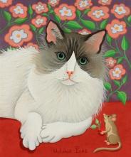 Le chat et la souris 23x19cm