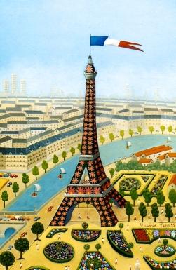 Le jardin de la Tour Eiffel, 33x22cm