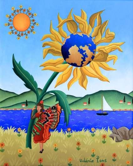 Le monde fleuri 27x22cm 750€