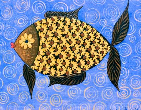 Le poisson fleur 22x27cm