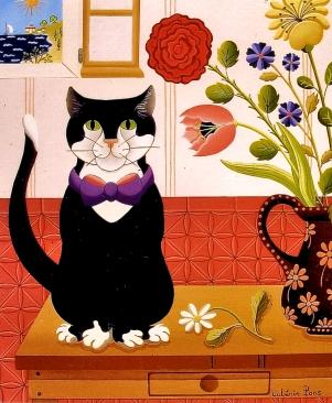 Le portrait chat 46x38cm