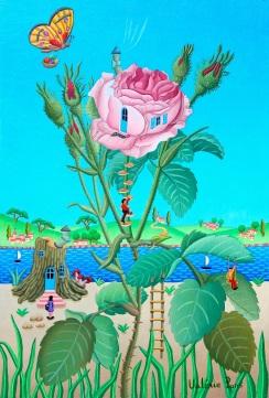 Le rosier mousseux 33x22cm