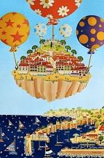 Saint Tropez en fête 81x54cm