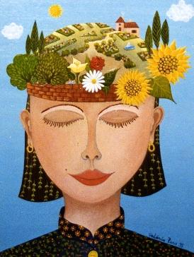 Un jardin dans la tête 35x27cm